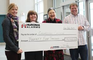Huronia donates $25,000 to Georgian College