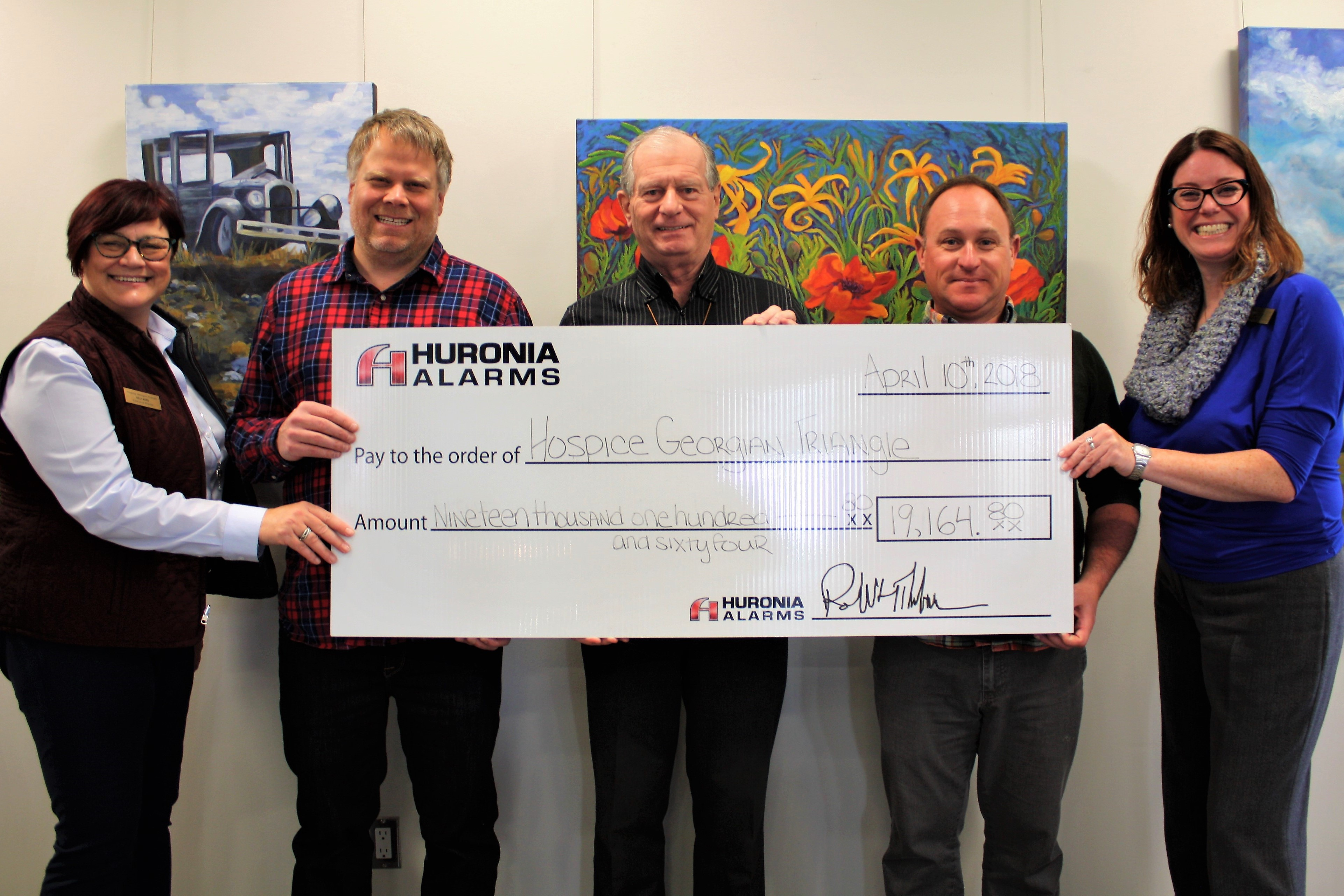 Huronia Alarm & Fire Security Inc. makes donation-in-kind to Hospice Georgian Triangle, Campbell House