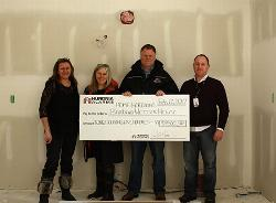 Huronia Alarm & Fire Security Inc. makes $9500 donation in-kind.